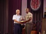 McMillan Trophy presented to GySgt Richard Gray