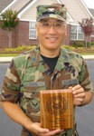 Col Chang with his Center Fire Slow Fire Award