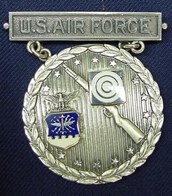 Silver USAF Excellence In Competition Rifleman Badge